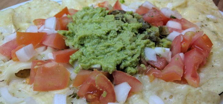 Nachos con queso y guacamole – entrante rápido