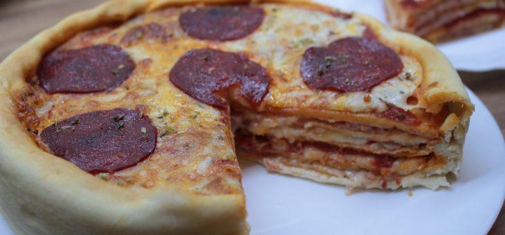 Pizza cake – pastel de pizzas + Sorteo GMG