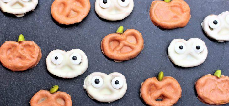 Pretzels de Fantasmas y Calabazas!! Especial de Halloween para niños
